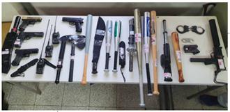 中市警扫黑 查获镇暴枪、29人到案