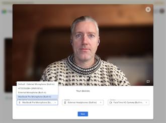 Google Meet 新增Green Room功能 开会前可检查设定与影音品质