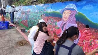 台東女中彩繪多良部落 居民驚呼:好像誰的阿嬤!