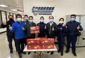 江敏賢慰勞基層員警 致贈柑橘象徵大吉大利