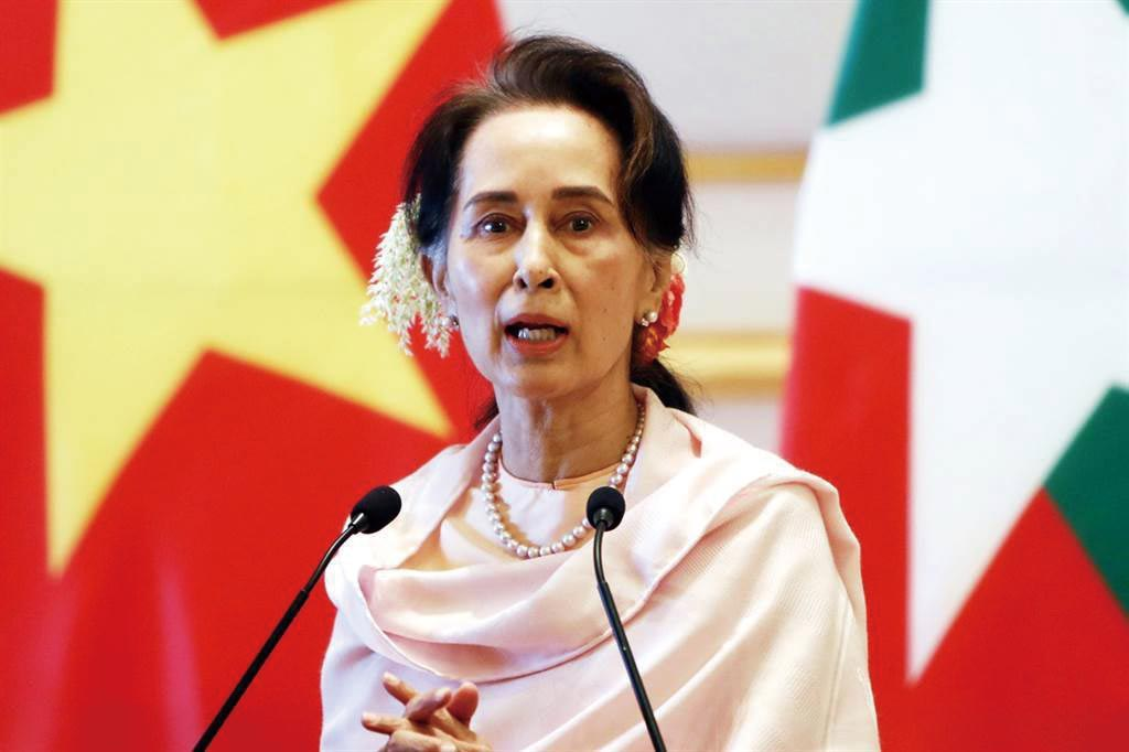 缅甸领导人翁山苏姬。(图/美联社)(photo:ChinaTimes)