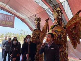 中埔歡喜財神廟重防疫 人數總量管制、體溫偵測