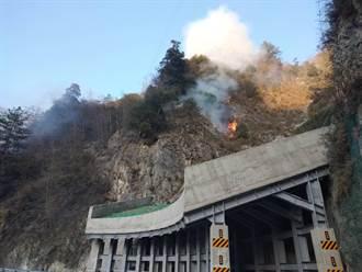 獨/中橫便道火燒山 梨山、谷關交通中斷