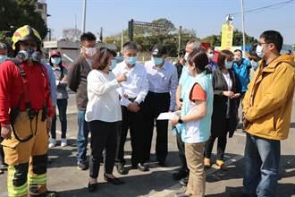嘉市非法廠房大火汙染環境 市長黃敏惠:盡速查辦、嚴懲不法