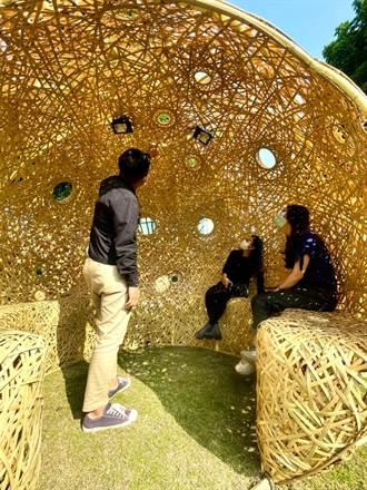 西竹圍之丘園區 竹編藝術裝置氣質迎春節
