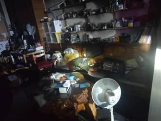 中市南區透天厝凌晨火災 一家4口嗆傷送醫