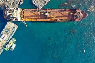 貨船擱淺西吉嶼 昨抽除殘油解除海洋汙染危機