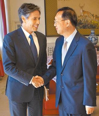 布林肯:北京應對威脅台海穩定負責