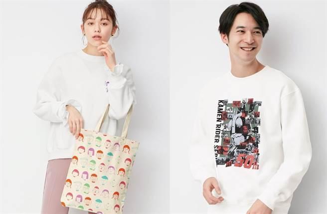 GU全新推出《櫻桃小丸子》、《假面騎士》2大人氣話題聯名系列商品。(圖/IG@gu_taiwan)