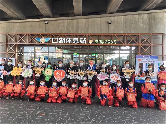 全台第一座省道休息站台61線口湖休息站7日剪綵啟用。(周麗蘭攝)