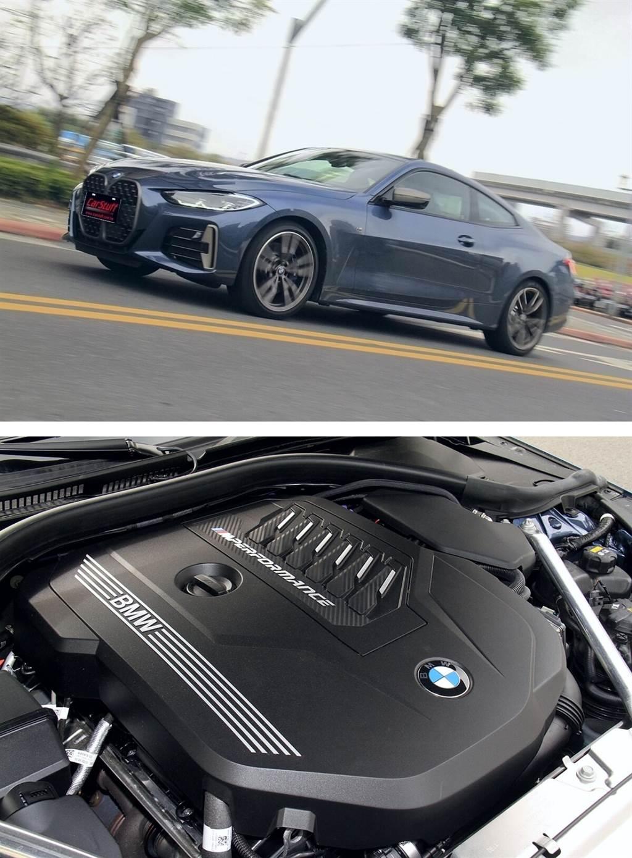 M440i xDrive搭載3.0升TwinPower Turbo直列6缸3.0升汽油渦輪增壓引擎,擁有374 hp最大馬力,可在1,900轉就可輸出500 Nm最大扭力,搭配48V高效複合動力與Steptronic運動化8速手自排變速箱,具備eBoost瞬間提供額外11 hp動力衝刺的功能,造就0-100 km/h加速僅需4.5秒的爆發力!