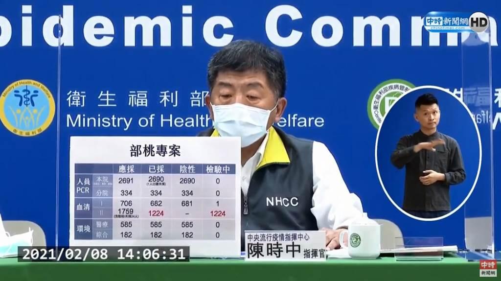 桃醫感染結案,中央流行疫情指揮中心指揮官陳時中曝最大挑戰。(圖/截自中時新聞網直播)