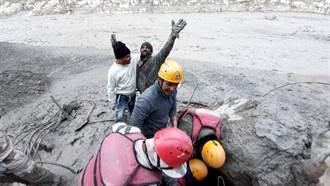 影》喜馬拉雅山冰川斷裂爆洪災恐釀上百亡 12工人困隧道奇蹟獲救