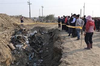 嘉縣府蓋滯洪池挖出廢棄物 新港農民憂地下水源受汙染