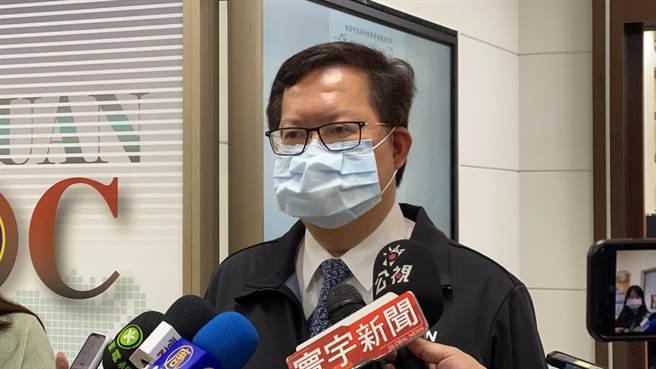 桃園市長鄭文燦強調桃園不是疫區,歡迎大家來桃園玩。(蔡依珍攝)