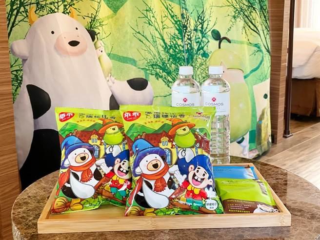 天成飯店集團與國民經典零食「乖乖」跨品牌聯名合作。(天成提供)
