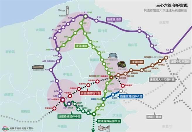 桃捷運綠線介壽路、中正路施工,警籲春節提前改道。(警方提供/蔡依珍桃園傳真)