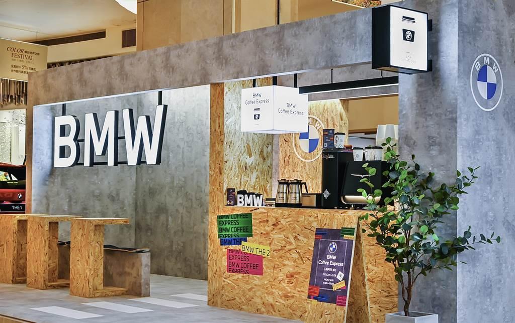 知名塗鴉藝術家REACH為BMW Coffee Express快閃店現場創作,即日起至2月28日止將於台北101快閃登場。