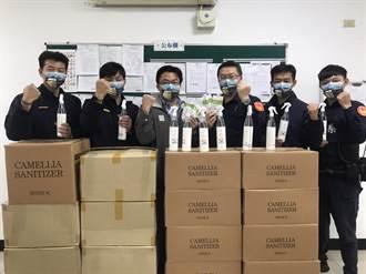 议员结合善心企业 捐赠防疫物资助警安心防疫