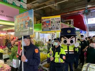 年節前交通安全及犯罪預防  內湖警走訪大賣場宣導