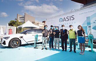 OASIS台南樹谷電動車快充站啟用