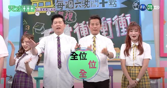 徐乃麟被觀眾發現表情不自然。(圖/YT@華視綜藝頻道)