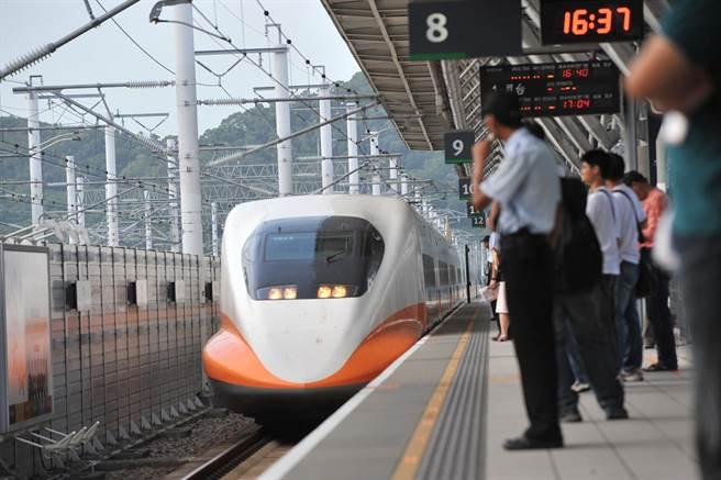 高鐵今天下午及晚上各加開一列南下對號座列車。(高鐵提供)