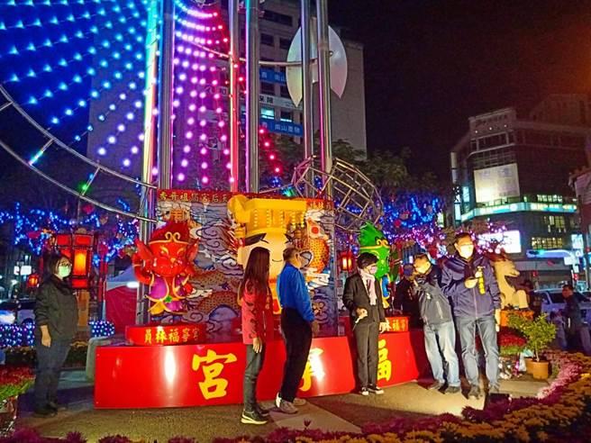 「2021員林燈會暨元宵節活動」從2月12日開始至3月1日止。(吳建輝攝))