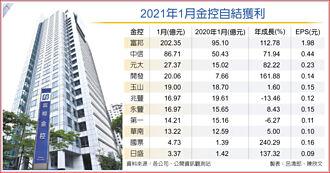 EPS 1.98元 最猛元月 富邦金大賺202億