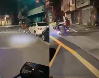 台南屁孩踹飛騎車外勞 曝影片網氣炸肉搜:讓他紅