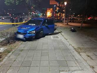 轎車衝上人行道 2名騎士慘遭撞飛 59歲女搶救不治