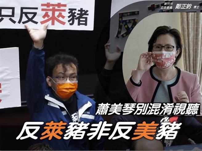 國民黨立委鄭正鈐(左)、駐美代表蕭美琴(右)。(圖/取自鄭正鈐臉書)