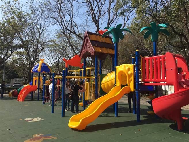 八卦山體育休閒園區全新兒童遊戲場啟用。(彰化縣政府提供/吳敏菁彰化傳真)