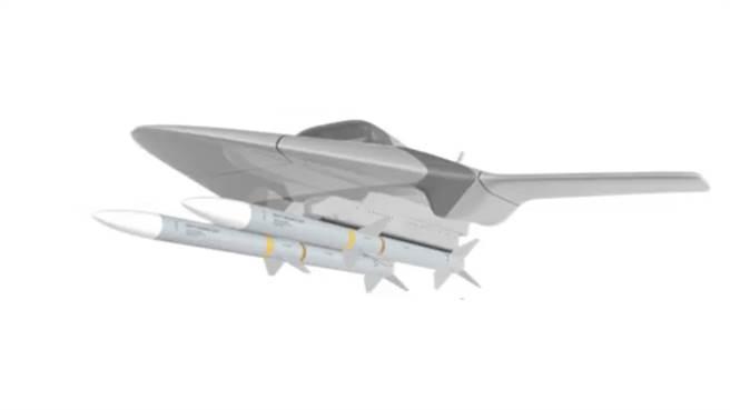 DARPA在2017年所繪的空戰無人機,還沒有內載彈艙的想法。(圖/DARPA)
