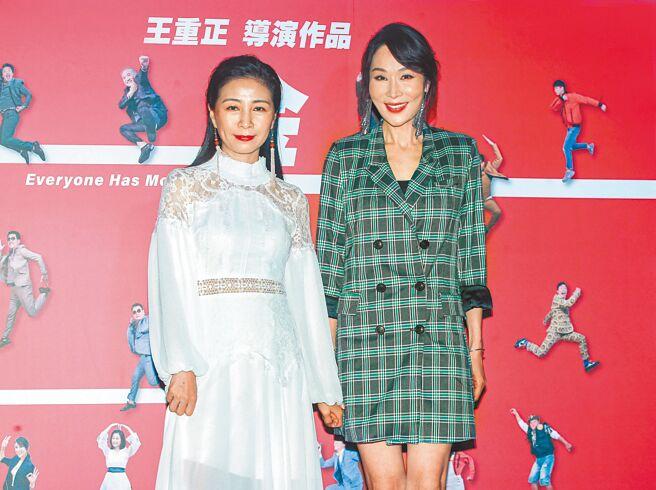 方文琳(左)、林千鈺昨出席首映會。(粘耿豪攝)