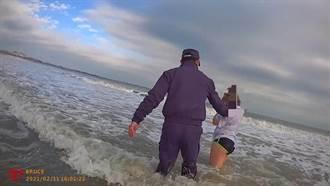 女子除夕海邊意圖輕生  金門警方下水即刻救援成功