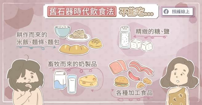 舊石器時代吃不到的食物。(圖/照護線上提供)