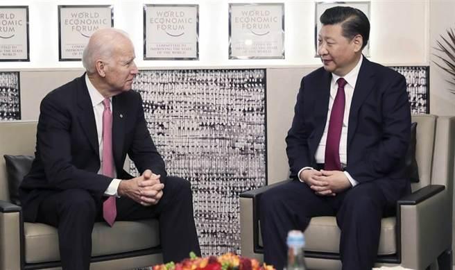 大陸國家主席習近平和美國總統拜登今天上午通電話。(新華社資料照片)