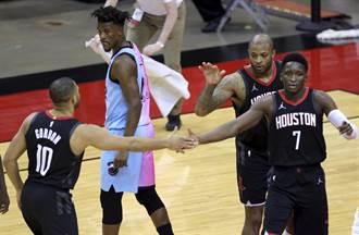 NBA》吉米巴特勒大三元 熱火射落火箭4連勝