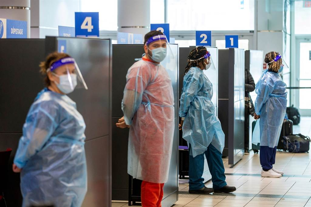 加拿大政府最新公告,所有入境加拿大旅客,均须于抵达加国的第一个机场进行核酸检测(PCR),并至指定旅馆等候检验报告至多3天,住宿费用由旅客自付。(资料照/路透社)(photo:ChinaTimes)