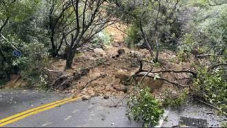陽金公路嚴重坍方 目前搶通開放單線通行  預計初三中午前搶通雙線