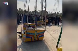 陸遊樂園空中飛椅繩索斷裂 民眾墜地釀16傷