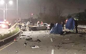 聚會試車失控自撞 BMW新車慘成廢鐵 2人飛出車外亡
