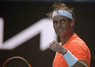 澳網》納達爾直落三勝出 生涯13度晉8強