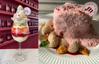 夢幻白草莓舒芙蕾鬆餅來了 蓬鬆綿密一吃上癮