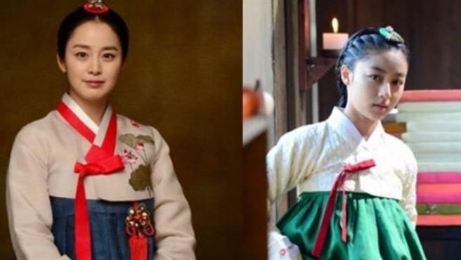 姜旻兒(圖右)昔日被封為「少女金泰希」。(圖/ 摘自韓網)