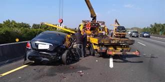 勞斯萊斯又出事 國道1號北斗段8車撞一團 3人受傷
