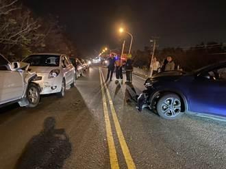 收假事故多 疑超車不當 屏東餉潭大橋5車連環撞