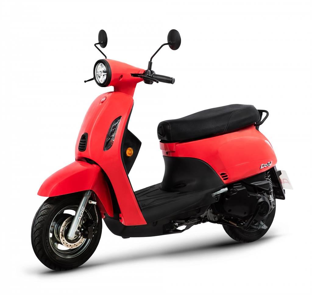 全新夢幻「珊瑚紅」配色的Dory 125 ABS,為每一位車主帶來極具質感、活力十足的生活態度。
