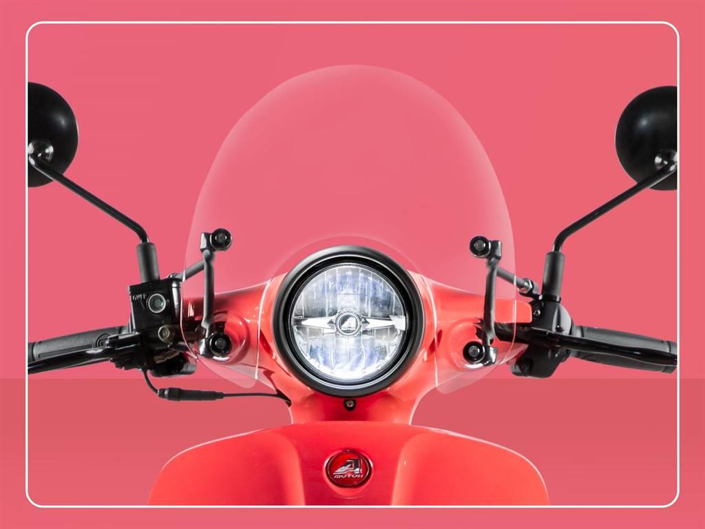 超值交車禮「原廠潮流風鏡」,為Dory 125 ABS車體更添質感。